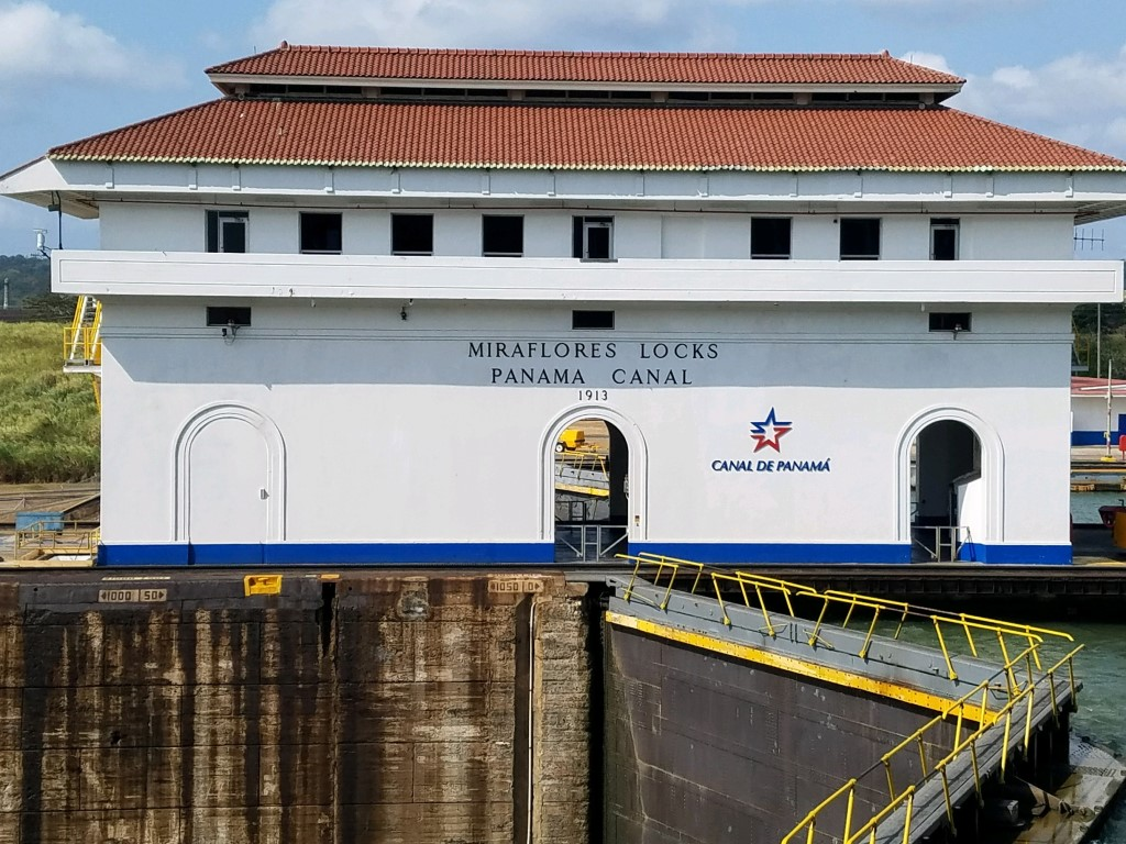 A lock at the Panama canal